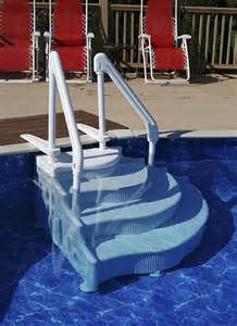 above ground pool steps and above ground pool ladders