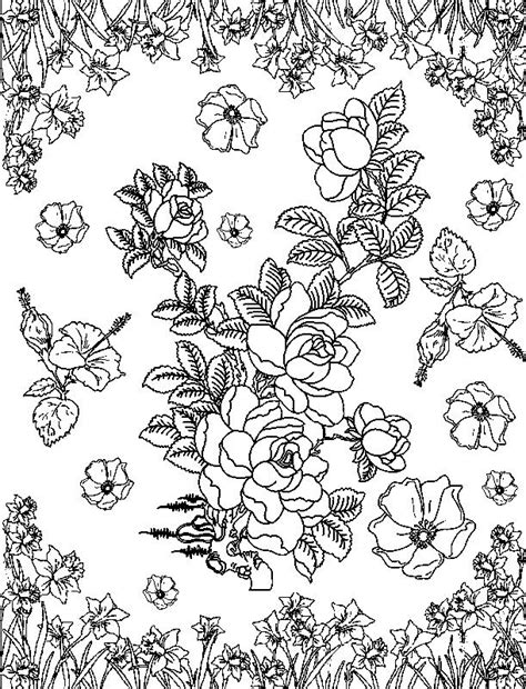 flower collage coloring page mindfulness coloring flowers mindfulness coloring free