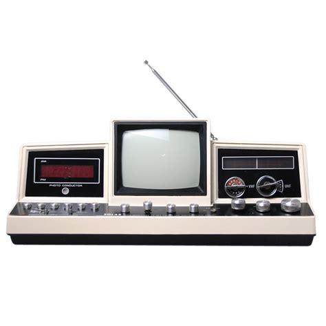 Tv Radio space age electronics solar tv radio tv alarm clock combination modernist icon