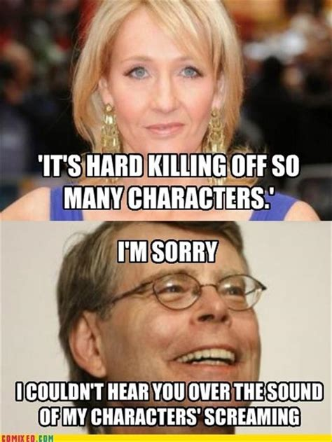 Stephen King Meme - stephen king and jk rowling funny pictures dump a day