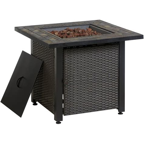 lowes firepit garden treasures 50 000 btu liquid propane pit table