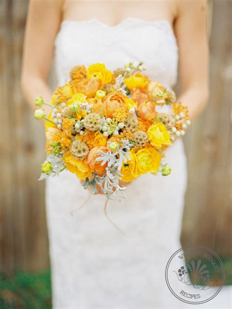 Wedding Bouquet Yellow by Yellow And Orange Wedding Bouquet