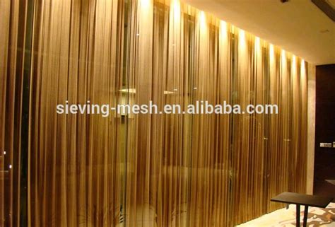 steel curtain wire aluminum chain link fence mesh metal wire mesh curtain