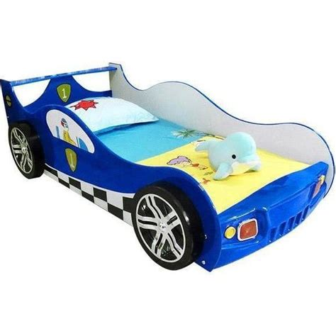 blue race car bed fibreglass mdf kids racing car bed w shelf blue buy