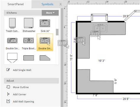 floor plan objects how to draw a floor plan with smartdraw