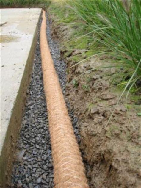 terrasse drainage pose du drain coco tout autour de la terrasse notre