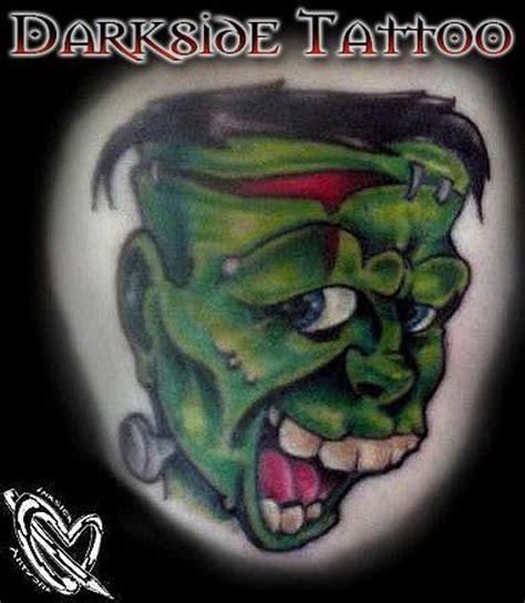 new school frankenstein tattoo darkside tattoo tattoos troy radecki color new