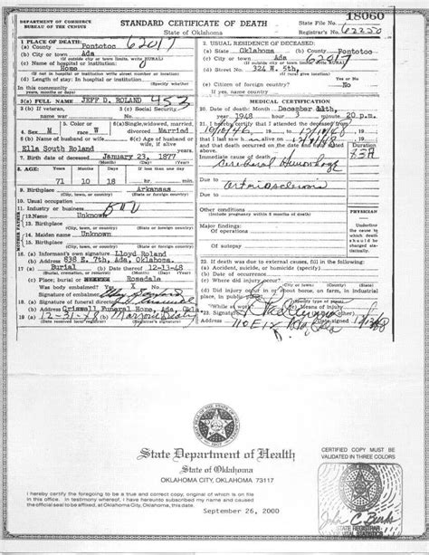Oklahoma Marriage Records Pontotoc Co Ok Vital Records
