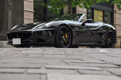 black ferrari back black ferrari california adv5 0 track spec wheels adv 1