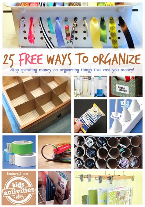 home organization blog 25 free ways to organize your home