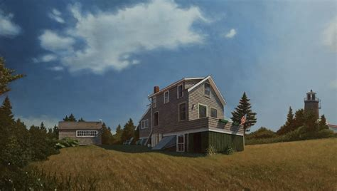 Skyline Cottages by David Vickery Paintings For Sale