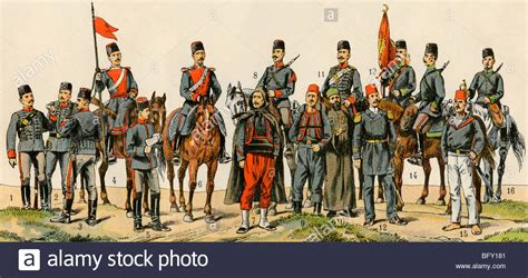 turk ottoman ottoman turk soldiers and sailors circa 1900 stock photo