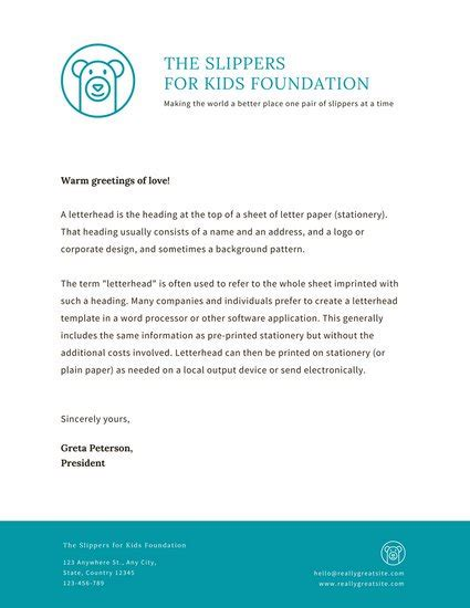 non profit acknowledgement letter requirements charity letterhead 28 images charity letterhead design