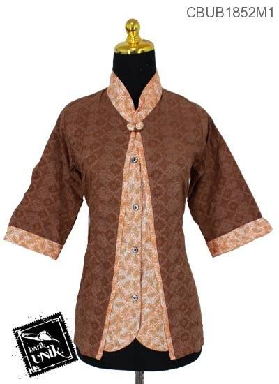 Kain Batik Motif Sayap baju batik blus tanggung 3 4 kombinasi motif sayap burung
