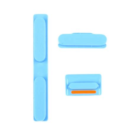 Vibrate Iphone 5 5s 5c set of 3 blue buttons volume vibrate ring switch power