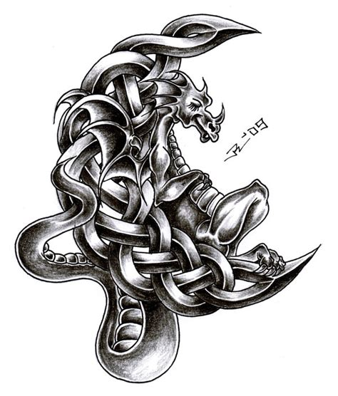 celtic dragon tattoo design world s most popular for celtic
