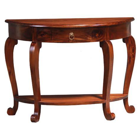 half round sofa table cabriol leg 1 drawer half round sofa table temple webster