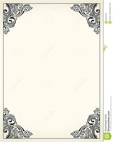 menu borders template calligraphic border frame design template for wedding