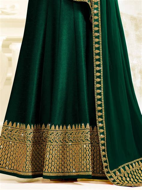 bottle green color buy drashti dhami bottle green color silk wear