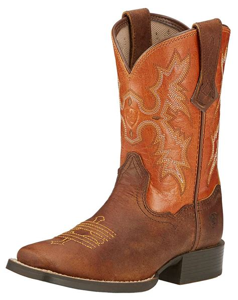 square toed cowboy boots for ariat childrens tombstone square toe cowboy boots powder