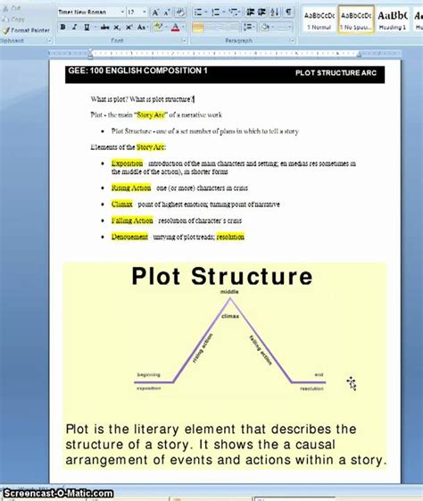 Narrative Essay Structure by Plot Structure For Narrative Essay
