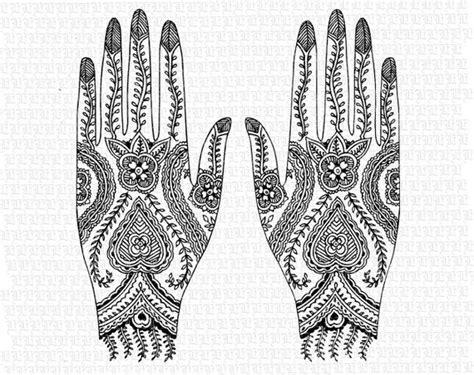 hindu hand tattoo designs digital collage sheet hindu designs floral pattern