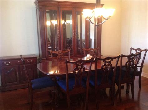Dining Room Set Cherry Wood Cherry Wood Heirloom Pennsylvania House Dining Room Set W
