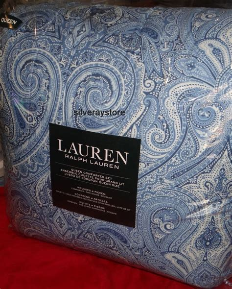 ralph lauren blue paisley comforter ralph lauren blue paisley 4 piece queen comforter sham