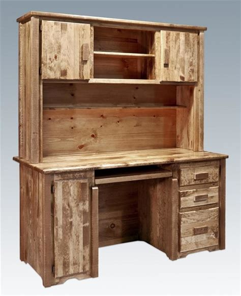 63 in desk with hutch rustic desks and hutches by