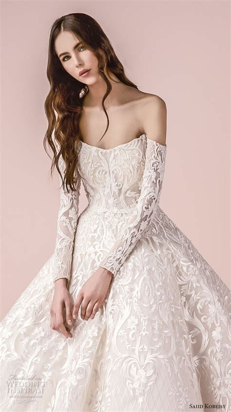 the bold bride stunning wedding gowns brides and bridesmaids in saiid kobeisy 2018 wedding dresses wedding inspirasi