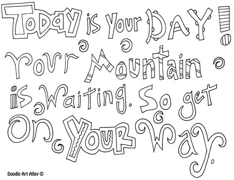 printable book quotes dr seuss quotes coloring pages inspirational thoughts