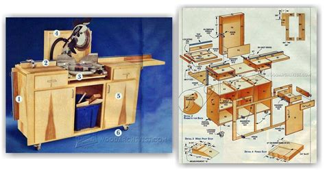 Cabinet The Band by Mobile Miter Saw Stand Plans Woodarchivist