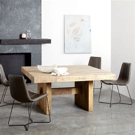 emmerson reclaimed wood square dining table 60 quot sq