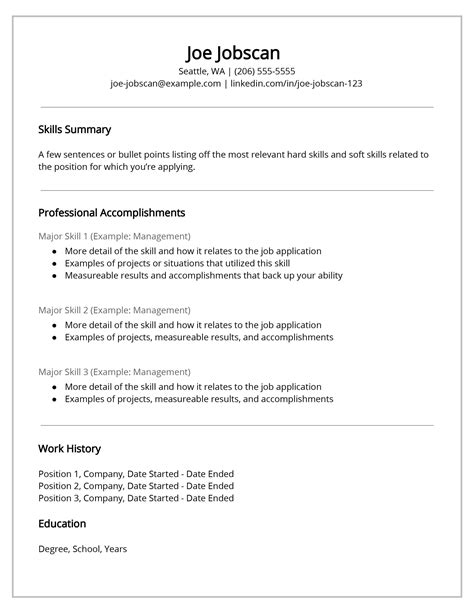 Functional Resume Templates by Why Recruiters The Functional Resume Format Jobscan