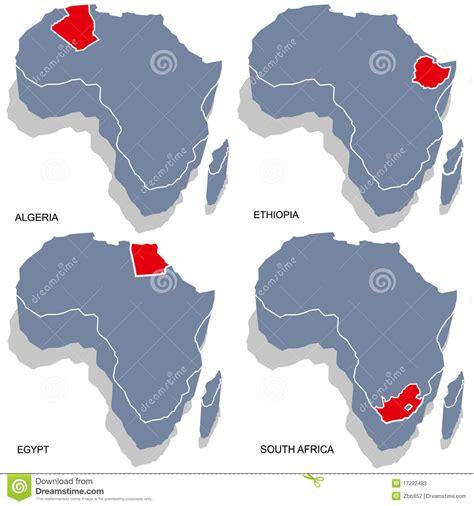 africa map 3d africa 3d map stock photos image 17292483