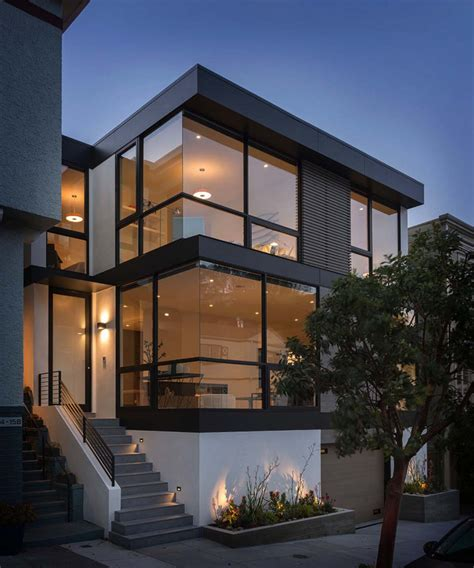 sleek and contemporary four level home in san francisco