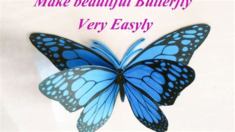 How To Make A 3d Paper Butterfly - how to make 3d butterfly using paper