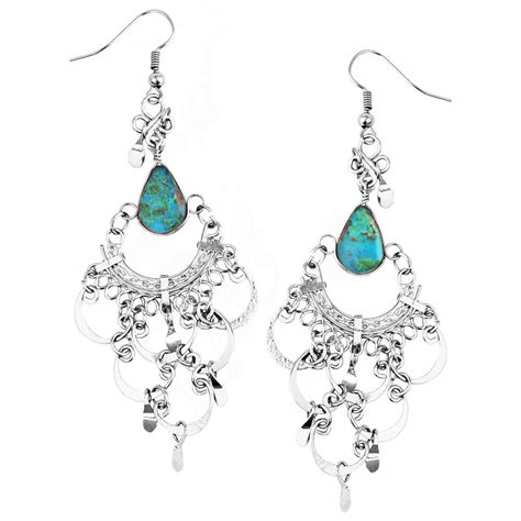 Turquoise Chandelier Earrings Turquoise Chandelier Earrings The Hunger Site