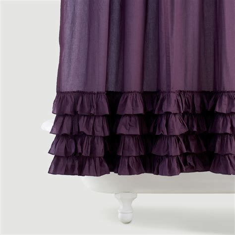ruffle shower curtains olivia ruffle shower curtain world market