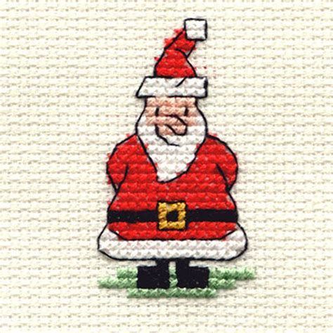 hobbycraft christmas hat pattern hobbycraft mini cross stitch kit santa