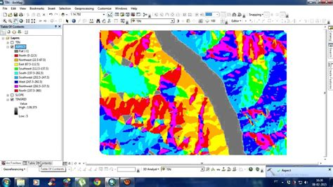 tutorial de arcgis 10 2 youtube create aspect and slope map in arcgis 10 2 2 youtube