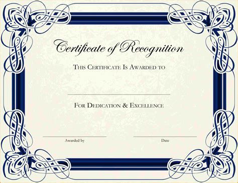 free templates certificates 6 free printable certificate border templates sle of