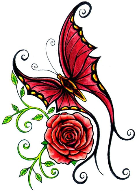 butterfly and rose tattoos 37 inspiring butterfly and tattoos