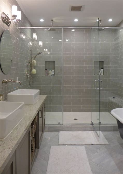 Contemporary Master Bathroom With Rain Shower Daltile | contemporary master bathroom with rain shower daltile