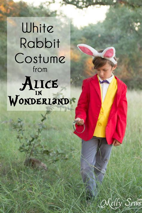 pattern for white rabbit costume white rabbit costume alice in wonderland diy melly sews