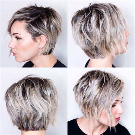 short bob hairstyles 360 degrees 360 view of short hair h a i r pinterest short hair