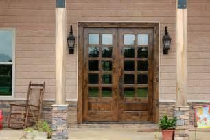 Wood Patio Door Rustic Patio Doors In Knotty Alder Wood