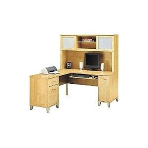 Cheap Computer Desk With Hutch Buy Cheap Bestar Innova L Shape Computer Desk Tuscany Brown Black On Sale