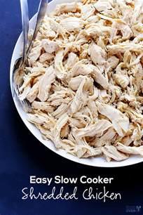 the easiest shredded crockpot chicken recipe dishmaps