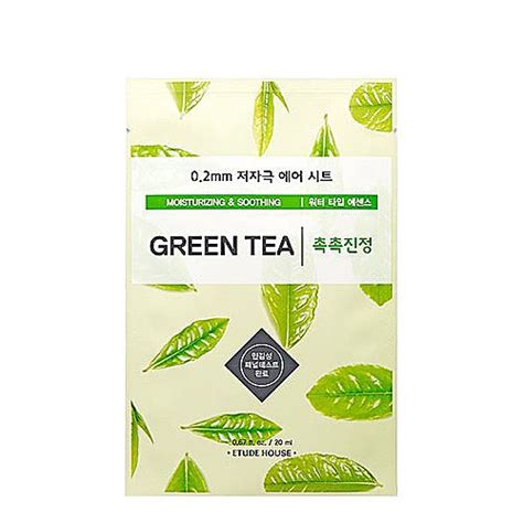 Etude 0 2 Therapy Air Mask etude house 0 2 therapy air mask green tea lovemycosmetic